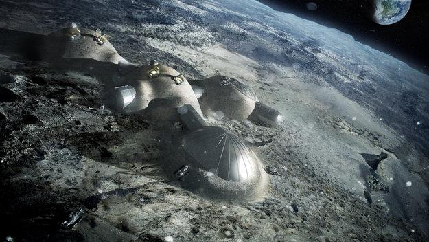 La stampa 3D anche sulla luna
